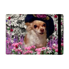 Chi Chi In Flowers, Chihuahua Puppy In Cute Hat Ipad Mini 2 Flip Cases by DianeClancy