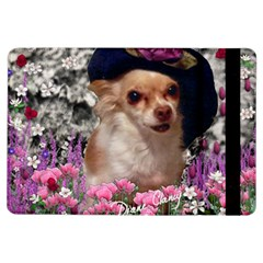 Chi Chi In Flowers, Chihuahua Puppy In Cute Hat Ipad Air Flip by DianeClancy