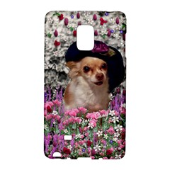 Chi Chi In Flowers, Chihuahua Puppy In Cute Hat Galaxy Note Edge by DianeClancy