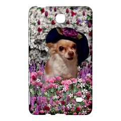 Chi Chi In Flowers, Chihuahua Puppy In Cute Hat Samsung Galaxy Tab 4 (7 ) Hardshell Case  by DianeClancy