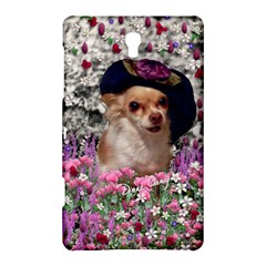 Chi Chi In Flowers, Chihuahua Puppy In Cute Hat Samsung Galaxy Tab S (8 4 ) Hardshell Case  by DianeClancy