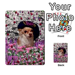 Chi Chi In Flowers, Chihuahua Puppy In Cute Hat Multi Purpose Cards (rectangle)  by DianeClancy