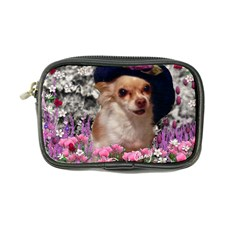 Chi Chi In Flowers, Chihuahua Puppy In Cute Hat Coin Purse by DianeClancy