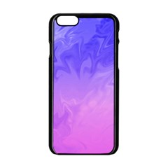 Ombre Purple Pink Apple Iphone 6/6s Black Enamel Case by BrightVibesDesign