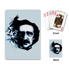 Edgar Allan Poe Crows Playing Card by lvbart