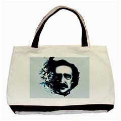 Edgar Allan Poe Crows Basic Tote Bag by lvbart