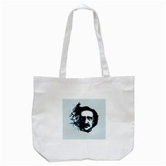 Edgar Allan Poe Crows Tote Bag (white) by lvbart