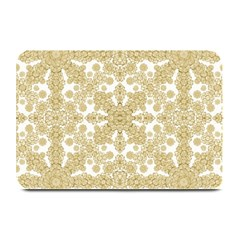 Golden Floral Boho Chic Plate Mats by dflcprints