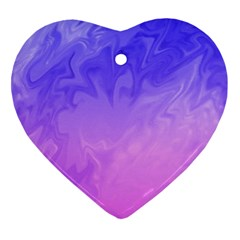 Ombre Purple Pink Heart Ornament (2 Sides) by BrightVibesDesign