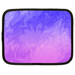 Ombre Purple Pink Netbook Case (xxl)  by BrightVibesDesign