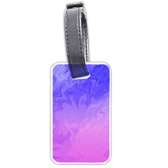 Ombre Purple Pink Luggage Tags (one Side)  by BrightVibesDesign