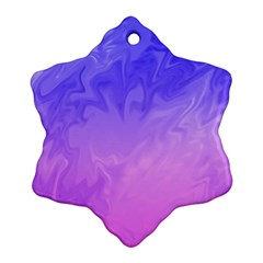 Ombre Purple Pink Ornament (snowflake)  by BrightVibesDesign