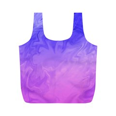 Ombre Purple Pink Full Print Recycle Bags (m)  by BrightVibesDesign