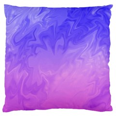 Ombre Purple Pink Large Flano Cushion Case (one Side) by BrightVibesDesign