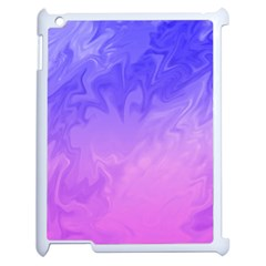 Ombre Purple Pink Apple Ipad 2 Case (white) by BrightVibesDesign