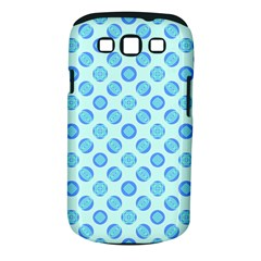 Pastel Turquoise Blue Retro Circles Samsung Galaxy S Iii Classic Hardshell Case (pc+silicone) by BrightVibesDesign