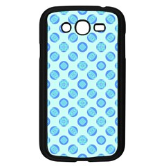 Pastel Turquoise Blue Retro Circles Samsung Galaxy Grand Duos I9082 Case (black) by BrightVibesDesign