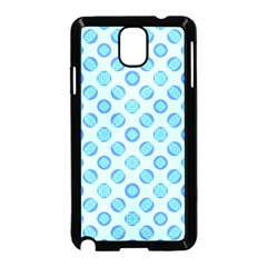 Pastel Turquoise Blue Retro Circles Samsung Galaxy Note 3 Neo Hardshell Case (black) by BrightVibesDesign