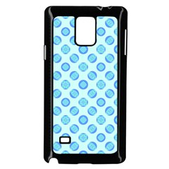 Pastel Turquoise Blue Retro Circles Samsung Galaxy Note 4 Case (black) by BrightVibesDesign