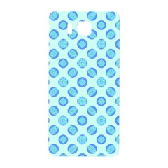 Pastel Turquoise Blue Retro Circles Samsung Galaxy Alpha Hardshell Back Case by BrightVibesDesign