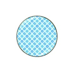 Pastel Turquoise Blue Retro Circles Hat Clip Ball Marker (4 Pack) by BrightVibesDesign