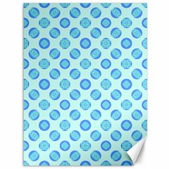 Pastel Turquoise Blue Retro Circles Canvas 36  X 48   by BrightVibesDesign