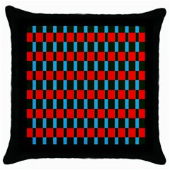 Black Red Rectangles Pattern                                                          			throw Pillow Case (black) by LalyLauraFLM