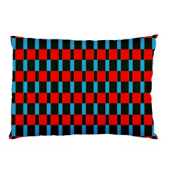 Black Red Rectangles Pattern                                                          			pillow Case by LalyLauraFLM