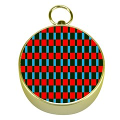 Black Red Rectangles Pattern                                                          			gold Compass by LalyLauraFLM