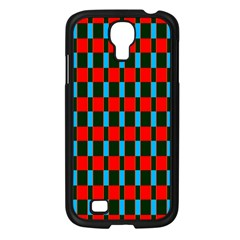 Black Red Rectangles Pattern                                                          			samsung Galaxy S4 I9500/ I9505 Case (black) by LalyLauraFLM