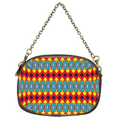 Rhombus And Other Shapes Pattern                                                            	chain Purse (two Sides) by LalyLauraFLM