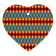 Rhombus And Other Shapes Pattern                                                            			ornament (heart)