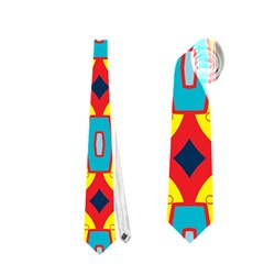Rhombus And Other Shapes Pattern                                                            Necktie by LalyLauraFLM