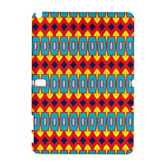 Rhombus And Other Shapes Pattern                                                            			samsung Galaxy Note 10 1 (p600) Hardshell Case by LalyLauraFLM