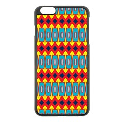 Rhombus And Other Shapes Pattern                                                            			apple Iphone 6 Plus/6s Plus Black Enamel Case by LalyLauraFLM