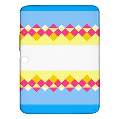 Rhombus And Stripes                                                             			samsung Galaxy Tab 3 (10 1 ) P5200 Hardshell Case by LalyLauraFLM