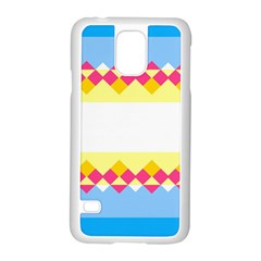 Rhombus And Stripes                                                             			samsung Galaxy S5 Case (white) by LalyLauraFLM