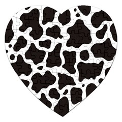 Cow Pattern Jigsaw Puzzle (heart) by sifis