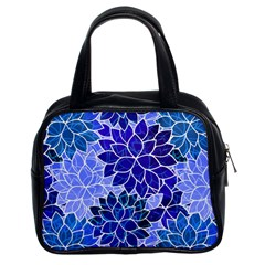Azurite Blue Flowers Classic Handbags (2 Sides) by KirstenStar