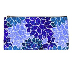 Azurite Blue Flowers Pencil Cases by KirstenStar