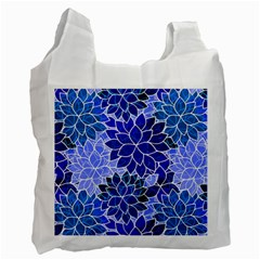 Azurite Blue Flowers Recycle Bag (one Side) by KirstenStar