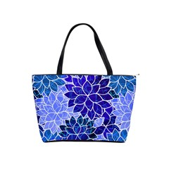 Azurite Blue Flowers Shoulder Handbags by KirstenStar