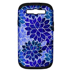 Azurite Blue Flowers Samsung Galaxy S Iii Hardshell Case (pc+silicone) by KirstenStar