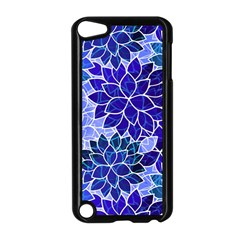 Azurite Blue Flowers Apple Ipod Touch 5 Case (black) by KirstenStar