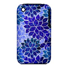 Azurite Blue Flowers Apple Iphone 3g/3gs Hardshell Case (pc+silicone) by KirstenStar