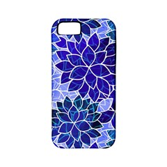 Azurite Blue Flowers Apple Iphone 5 Classic Hardshell Case (pc+silicone) by KirstenStar