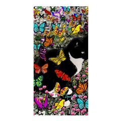 Freckles In Butterflies I, Black White Tux Cat Shower Curtain 36  X 72  (stall)  by DianeClancy
