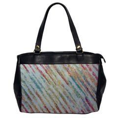 Diagonal Stripes Painting                                                               			oversize Office Handbag by LalyLauraFLM