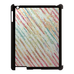 Diagonal Stripes Painting                                                               			apple Ipad 3/4 Case (black) by LalyLauraFLM