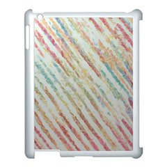 Diagonal Stripes Painting                                                               			apple Ipad 3/4 Case (white) by LalyLauraFLM